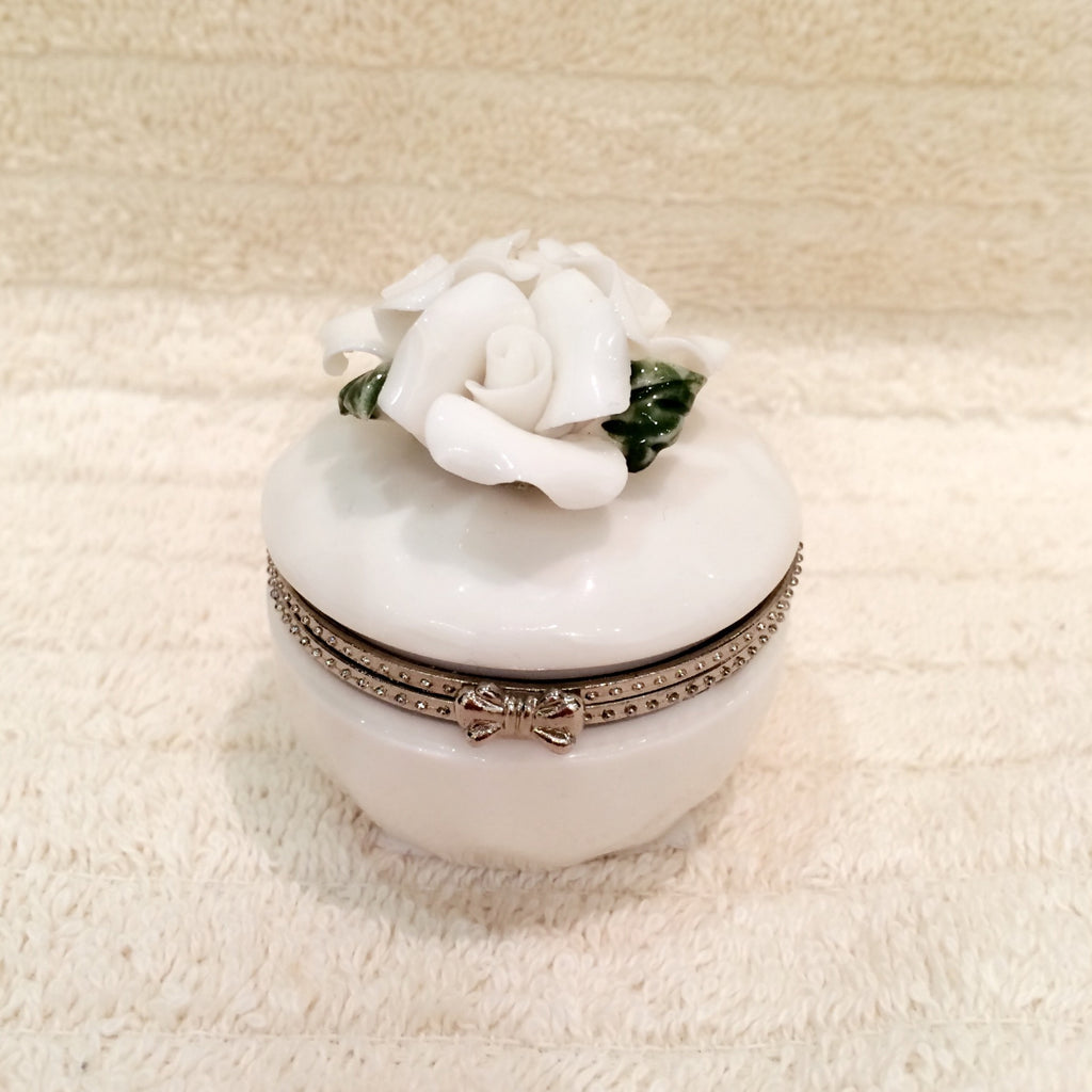 Floral Porcelain Trinket Box
