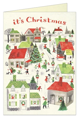 Christmas Village Greeting Card - Belle De Provence