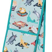 Cat Double Oven Gloves - Belle De Provence