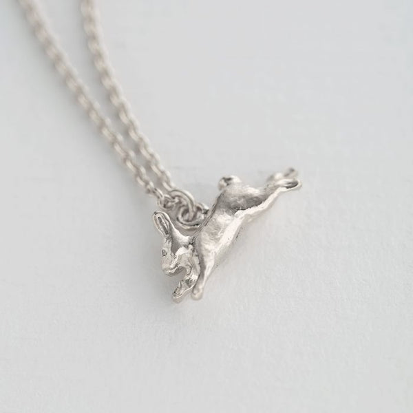 Alex Monroe - Silver Leaping Rabbit Necklace