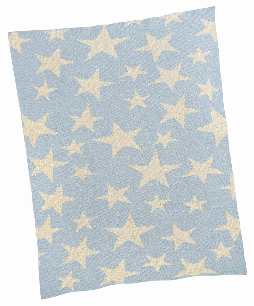 Blue Multi Star Baby Blanket - Belle De Provence