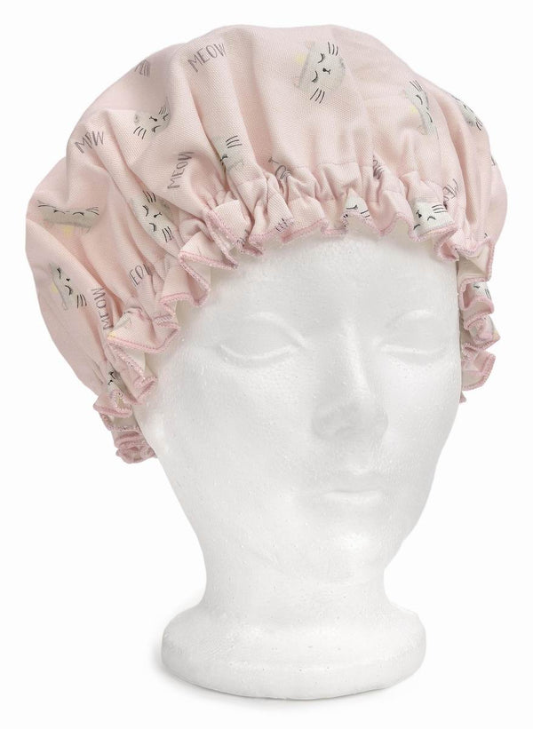 Shower Cap - Cats Meow Pink