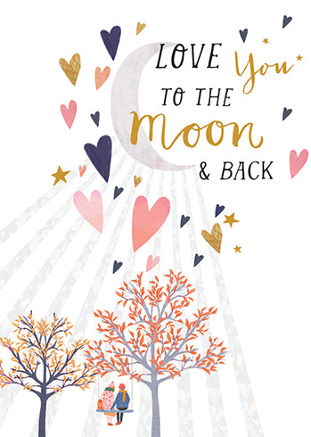 Love You to the Moon Greeting Card - Belle De Provence
