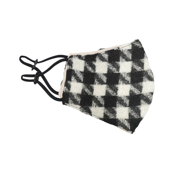Houndstooth Warm Mask Black - Belle De Provence