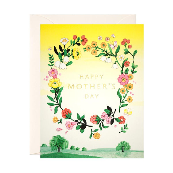 Yellow Floral Mother's Day Card - Belle De Provence