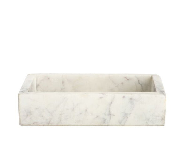 "Marble Small Tray  6.75"" x 3.75"" x 1.5"" - Belle De Provence"