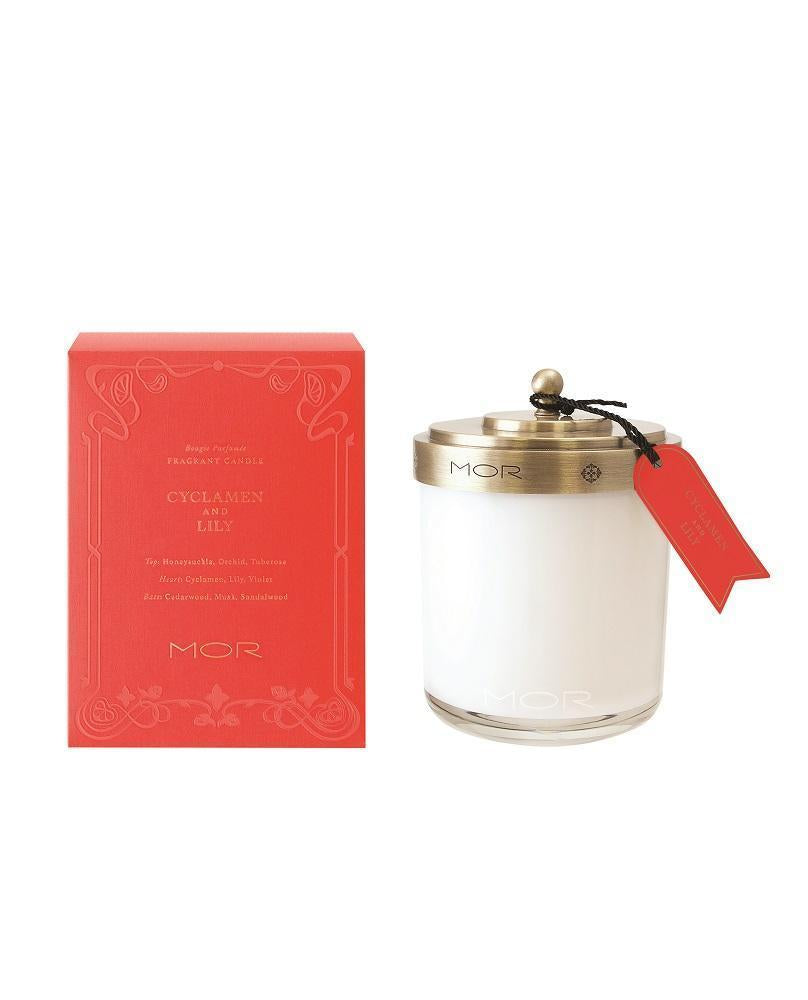 Cyclamen & Lily Fragrant Candle - Belle De Provence