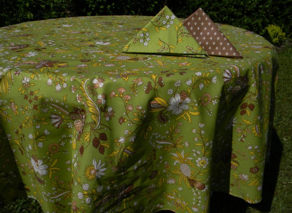 Le Cluny - Tablecloth Versailles Green