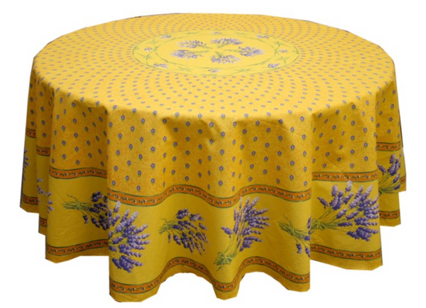 Le Cluny - Tablecloth Lavender Yellow - Belle De Provence