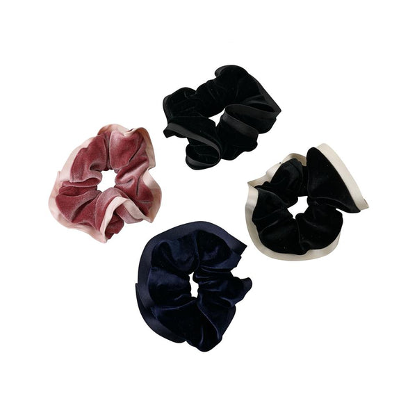 Velvet Scrunchie with Satin Trim - Belle De Provence