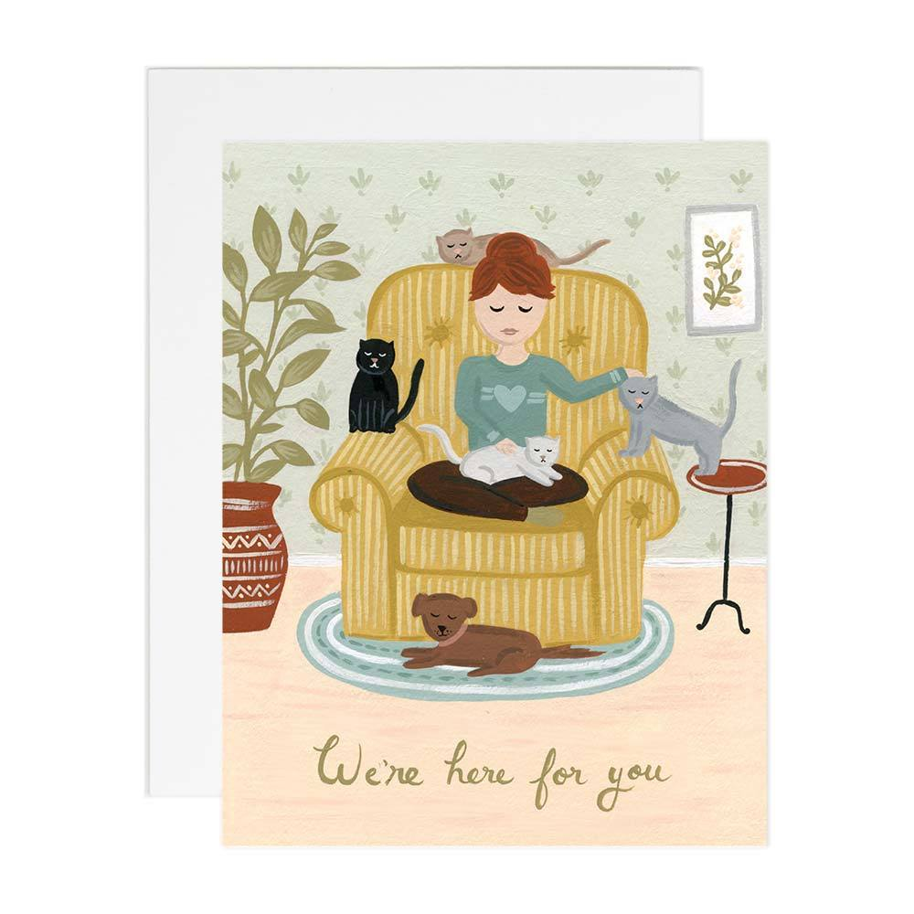 Here For You Card - Belle De Provence