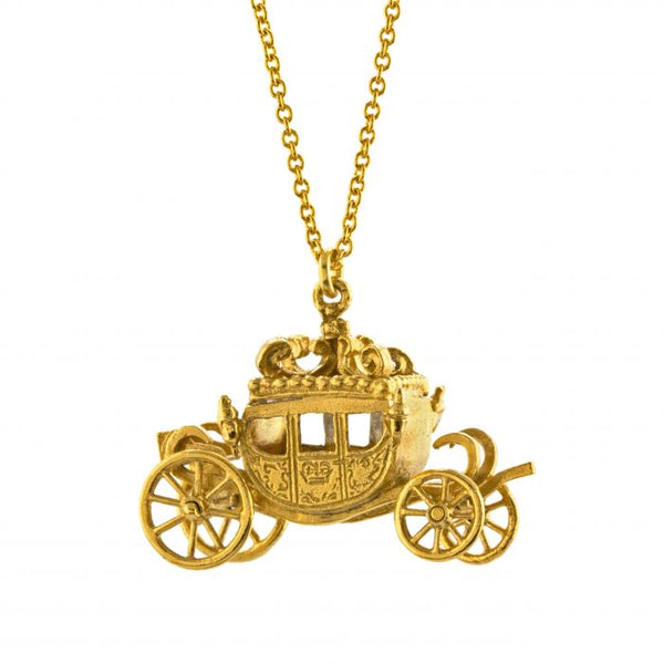 Alex Monroe - Gold Jubilee Carriage Necklace