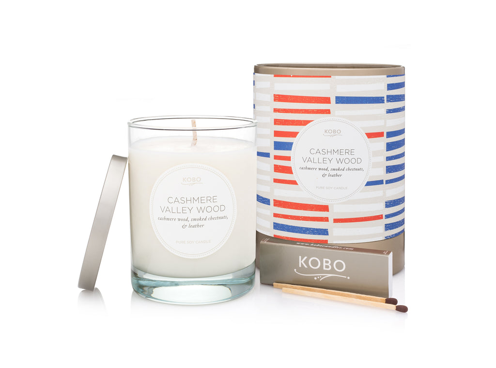 Cashmere Valley Wood Scented Candle