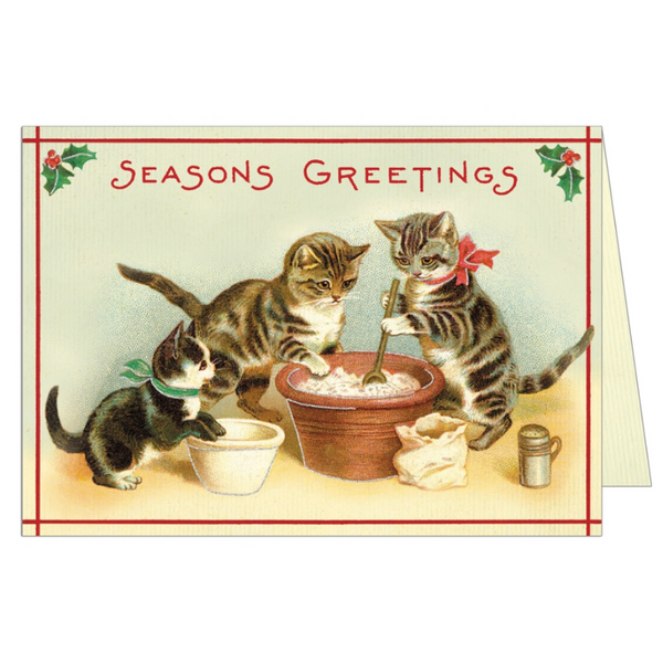 Christmas Cats Greeting Card - Belle De Provence