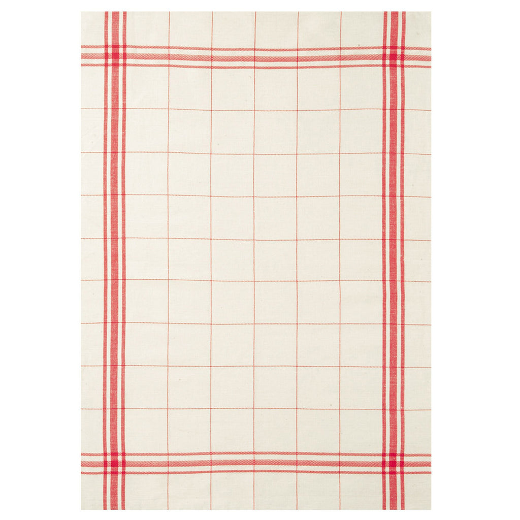 MBA Linen Red Tea Towel - Belle De Provence