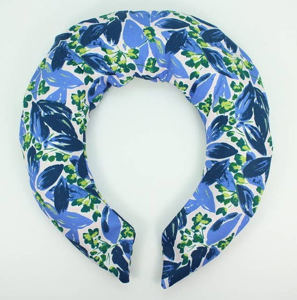Blue Floral Neck Wrap - Belle De Provence