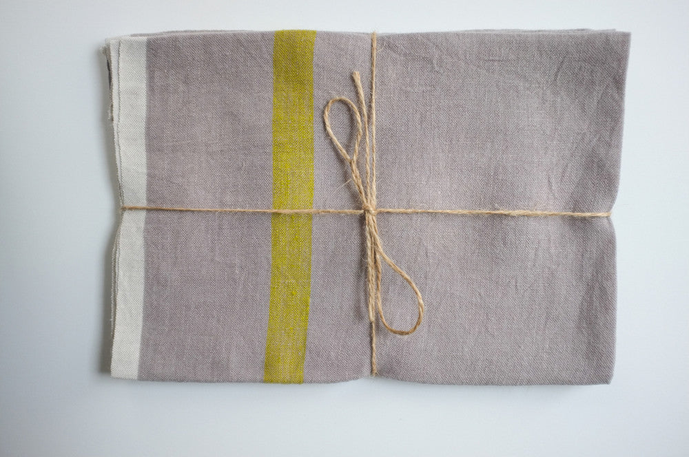 Caravan Laundered Linen Tea Towels 20x30