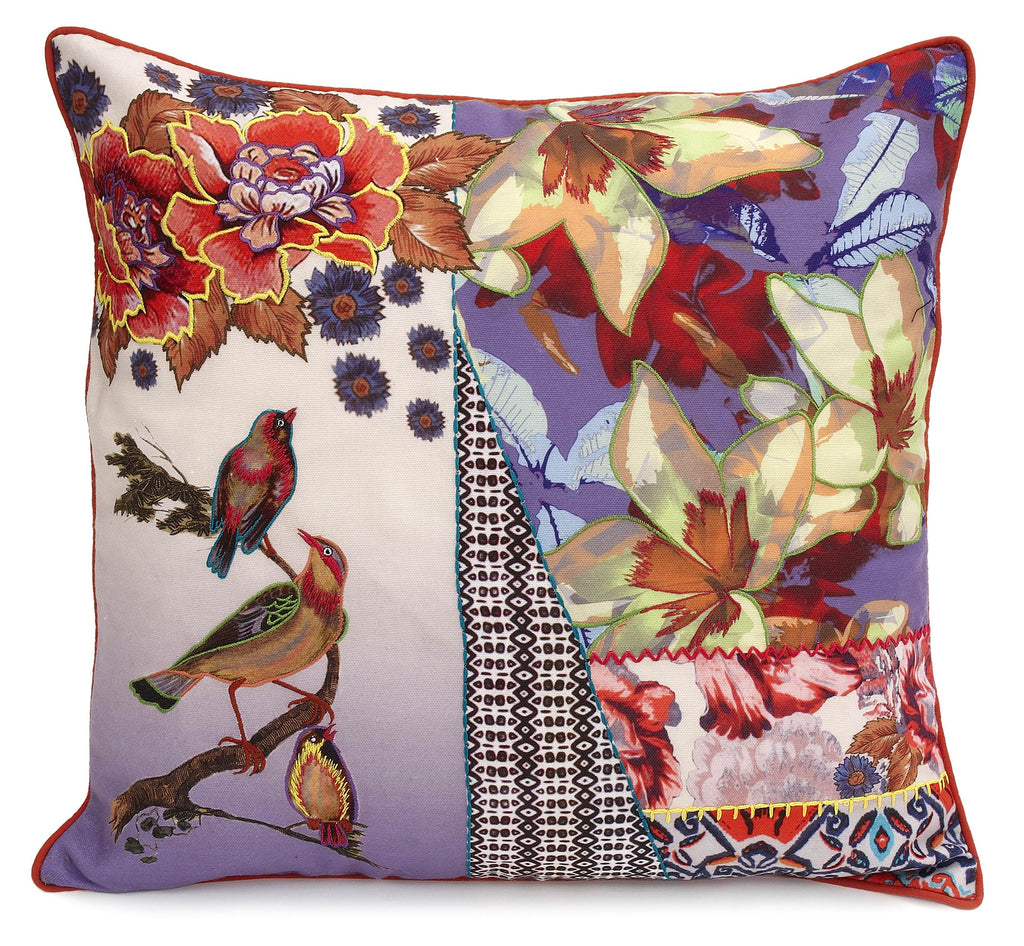 Vintage Birds Pillow - Belle De Provence