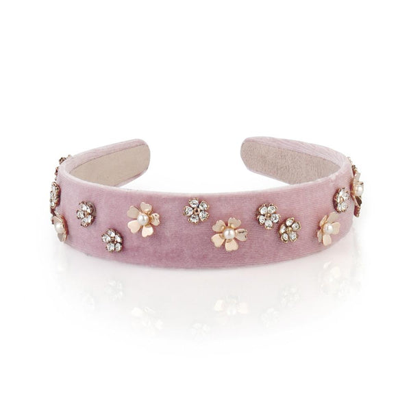 Velvet Flower Hairband - Belle De Provence