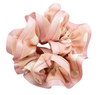 Satin Trim Heart Scrunchies - Belle De Provence
