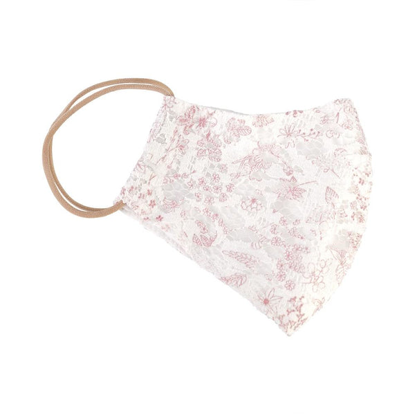 Red Floral Lace Mask - Belle De Provence