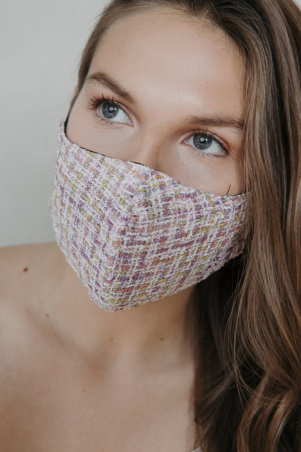 Pink Tweed Mask - Belle De Provence