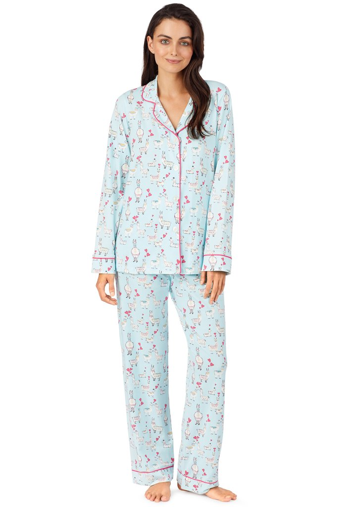 Llama Love Stretch Long Sleeve Classic PJ Set
