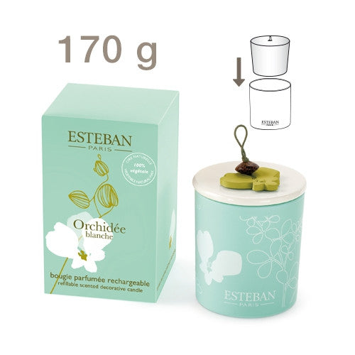Esteban - White Orchid Decorative Scented Candle