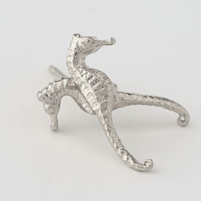 Alex Monroe - Silver Seahorse Stud Earrings