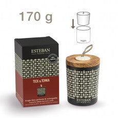 Esteban - Teck & Tonka Decorative Scented Candle