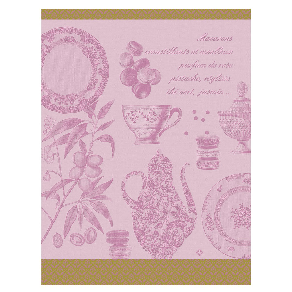 Macarons Rose Tea Towel - Belle De Provence