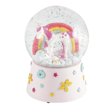 Unicorn Musical Snow Globe - Belle De Provence