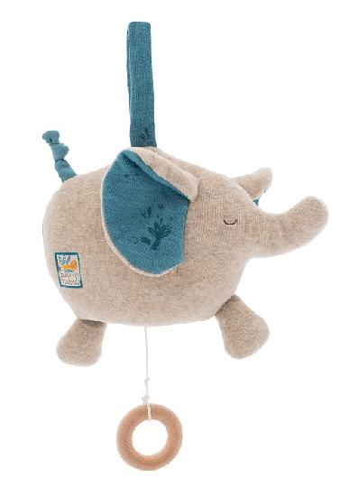 Moulin Roty - Sous Mon Baobab - Musical Elephant 23cm