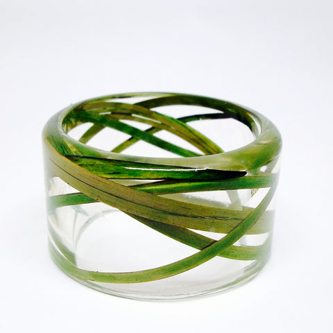Grass Larkspur Resin Bracelet