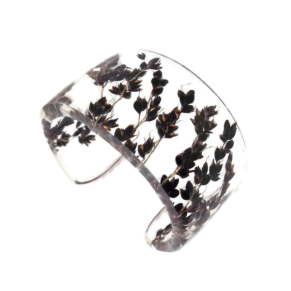 Black Sorghum Eco Resin Cuff