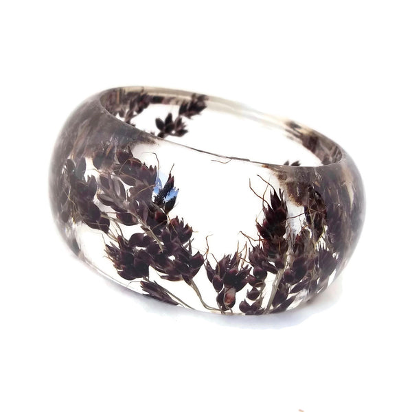 Resin Bracelet with Black Sorghum