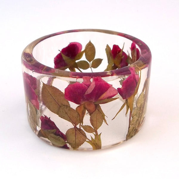 Rose in a Resin Bracelet