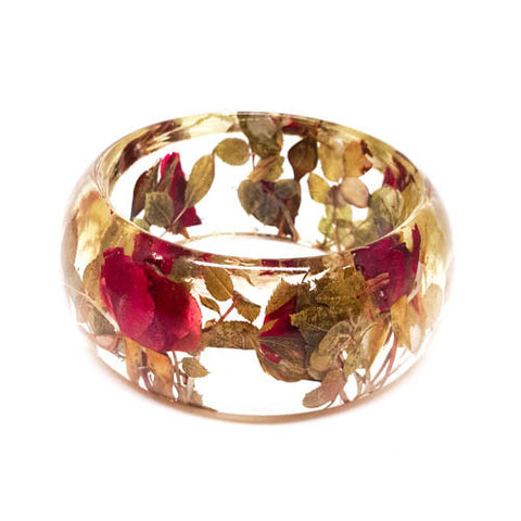 Resin Bracelet with Roses