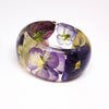 Resin Bracelet with Pansies