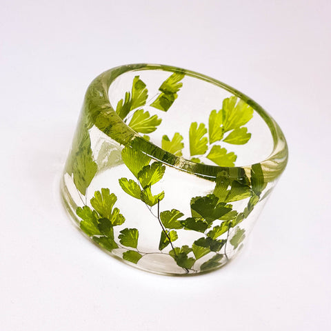 Maidenhair Fern Resin Bracelet