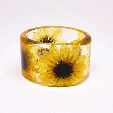 Sunflower Resin Bracelet