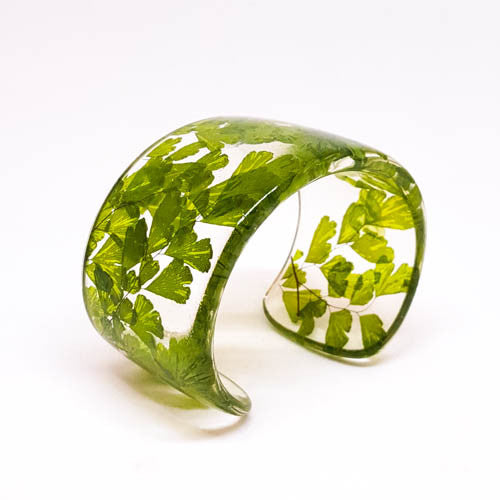 Maidenhair Fern Eco Resin Cuff