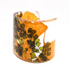 Eco Resin Cuff with Ginkgo Leaves and Maidenhair Fern