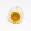 Resin Ring with Daisy