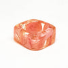 Square Resin Ring with Pink Larkspur