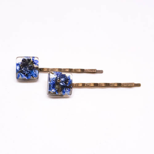 Hair pins with Forget Me Nots