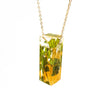 Bar Necklace with Ginkgo Leaves and Maidenhair Ferns