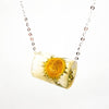 Resin Tube Necklace with Daisy