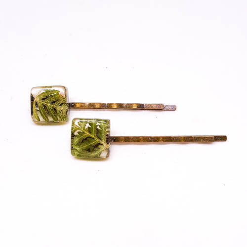 Hair Pins with Ferns