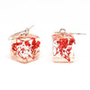Resin Earrings with Red Baby's Breath